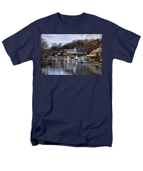 The Docks at Boathouse Row - Philadelphia T-Shirt by Bill Cannon
