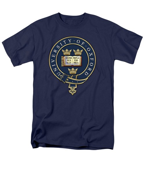 University Of Oxford Seal - Coat Of Arms Over Colours Men's T-Shirt  (Regular Fit) by Serge Averbukh