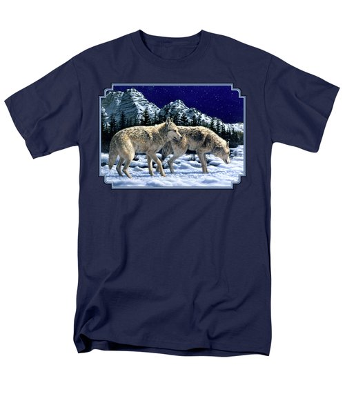 Wolves - Unfamiliar Territory Men's T-Shirt  (Regular Fit) by Crista Forest