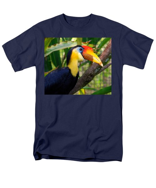Wrinkled Hornbill Men's T-Shirt  (Regular Fit) by Susanne Van Hulst