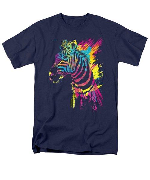 Zebra Splatters Men's T-Shirt  (Regular Fit) by Olga Shvartsur