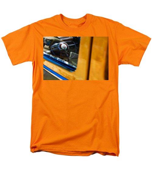 1950 Ford Custom Deluxe Woodie Station Wagon Steering Wheel Emblem T-Shirt by Jill Reger
