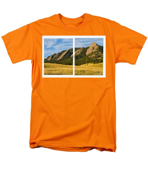 Boulder Colorado Flatirons White Window Frame Scenic View T-Shirt by James BO  Insogna