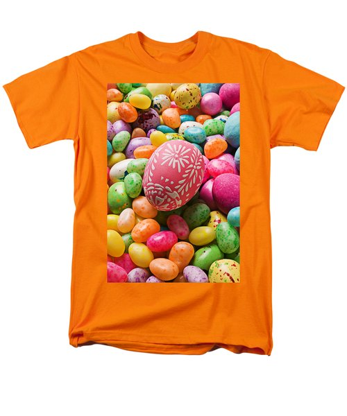 Easter egg and jellybeans  T-Shirt by Garry Gay