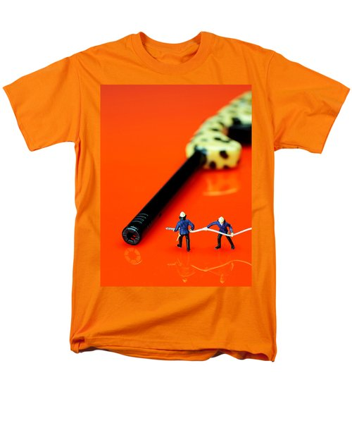 Fire fighters and fire gun little people big worlds T-Shirt by Paul Ge