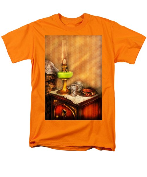 Furniture - Lamp - The Gas Lamp T-Shirt by Mike Savad