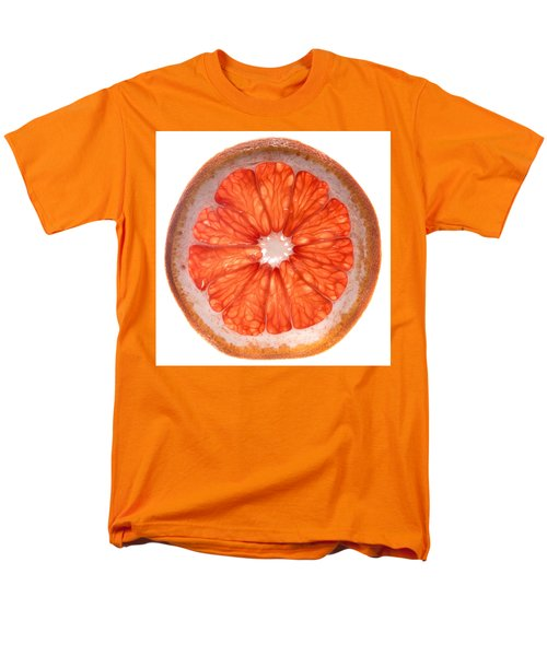 Red Grapefruit Men's T-Shirt  (Regular Fit) by Steve Gadomski