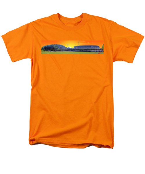The Old And New Yankee Stadiums Side By Side At Sunset Men's T-Shirt  (Regular Fit) by Nishanth Gopinathan
