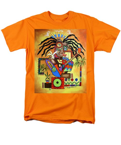 Ya Mon 2 No Steal Drums T-Shirt by Anthony Falbo