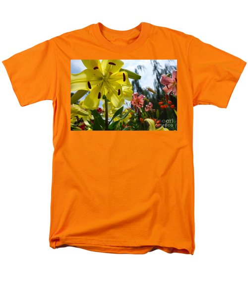 Yellow Whopper Lily 1 Men's T-Shirt  (Regular Fit) by Jacqueline Athmann