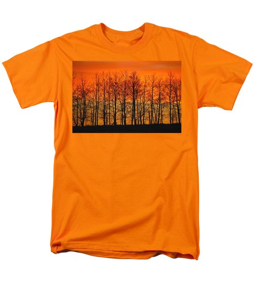 Silhouette Of Trees Against Sunset T-Shirt by Don Hammond