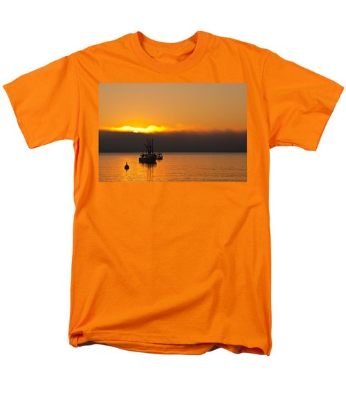 Fishing Boat At Sunrise T-Shirt by Steve Gadomski