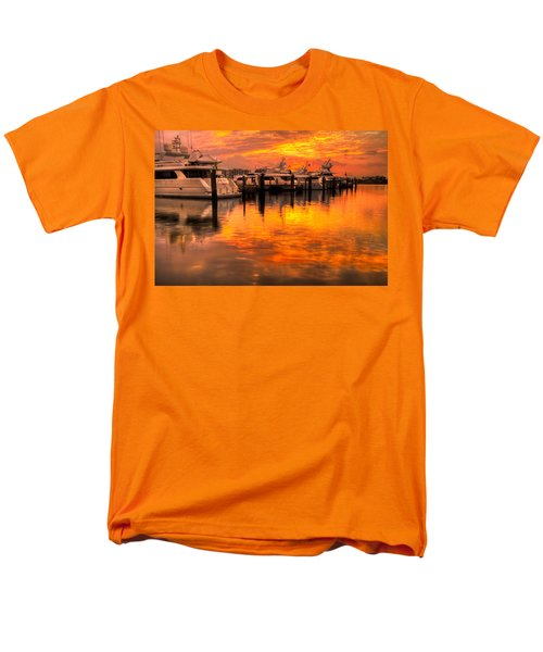 Palm Beach Harbor Glow T-Shirt by Debra and Dave Vanderlaan