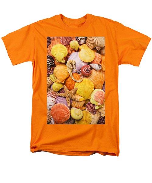 Sea horse starfish and seashells  T-Shirt by Garry Gay