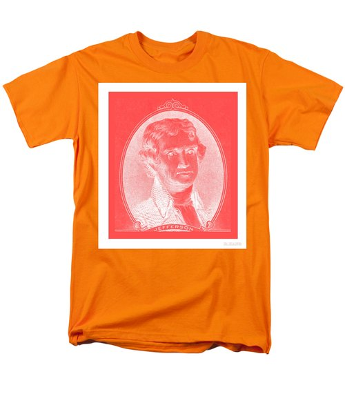 THOMAS JEFFERSON in NEGATIVE RED T-Shirt by ROB HANS