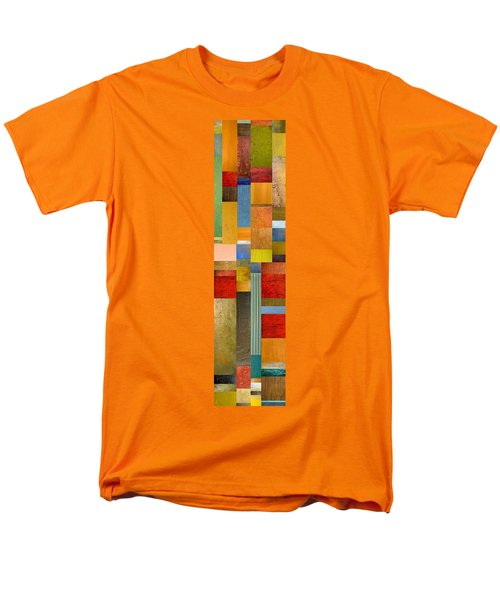 Color Panels with Green Grass T-Shirt by Michelle Calkins