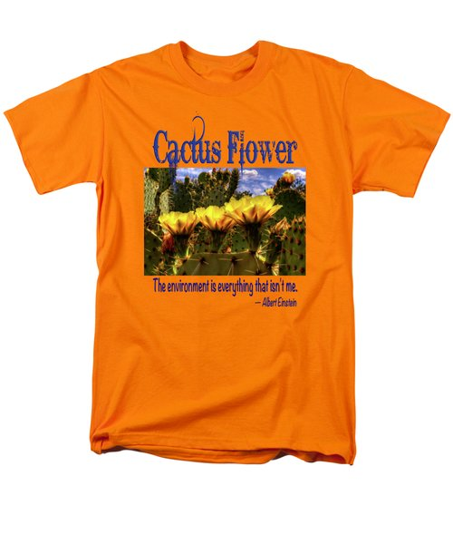 Prickly Pear Cactus Flowers Men's T-Shirt  (Regular Fit) by Roger Passman