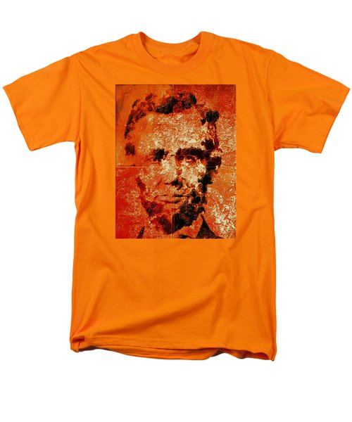 Abraham Lincoln 4d Men's T-Shirt  (Regular Fit) by Brian Reaves
