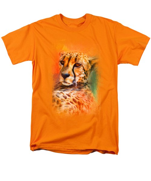 Colorful Expressions Cheetah Men's T-Shirt  (Regular Fit) by Jai Johnson