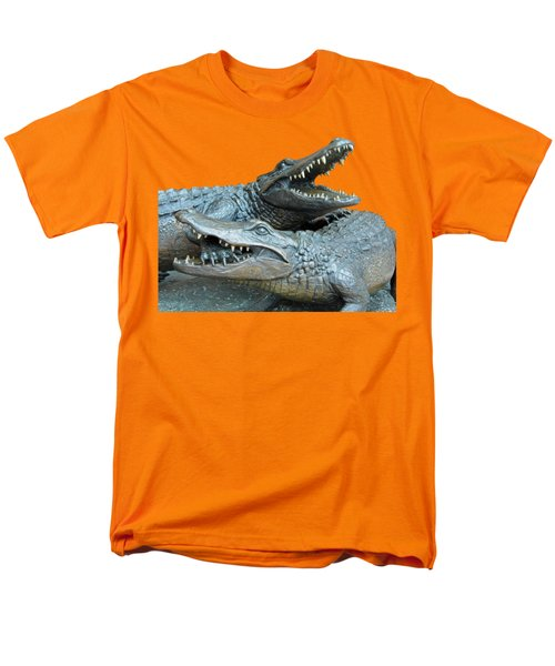 Dueling Gators Transparent For Customization Men's T-Shirt  (Regular Fit) by D Hackett