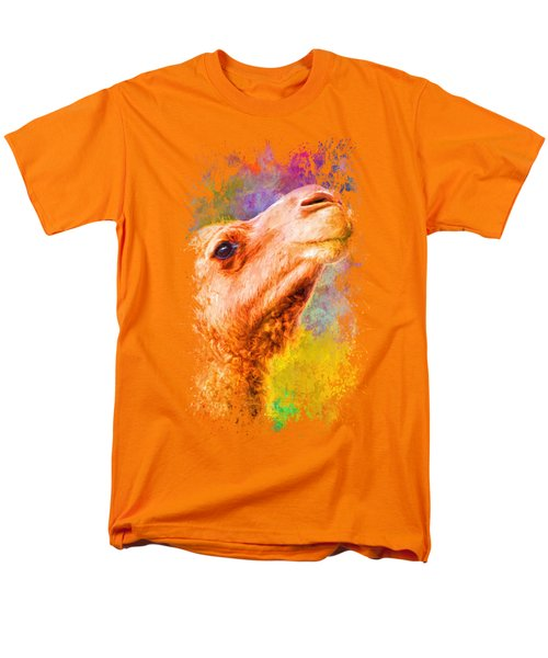 Jazzy Camel Colorful Animal Art By Jai Johnson Men's T-Shirt  (Regular Fit) by Jai Johnson