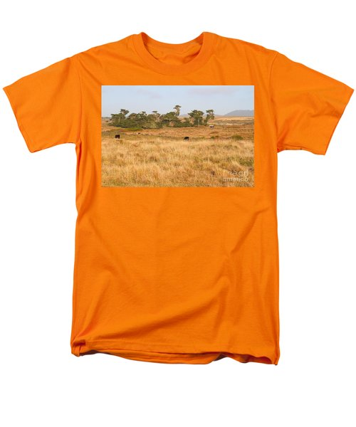Landscape With Cows Grazing In The Field . 7D9957 T-Shirt by Wingsdomain Art and Photography