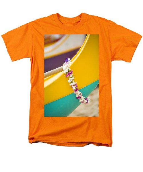 Lei draped over outrigger T-Shirt by Dana Edmunds - Printscapes