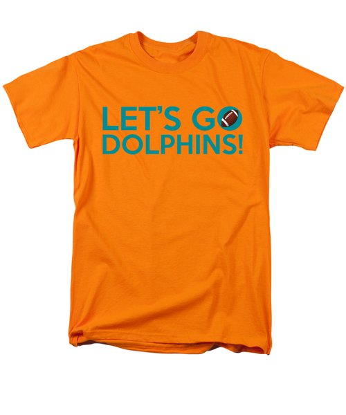 Let's Go Dolphins Men's T-Shirt  (Regular Fit) by Florian Rodarte