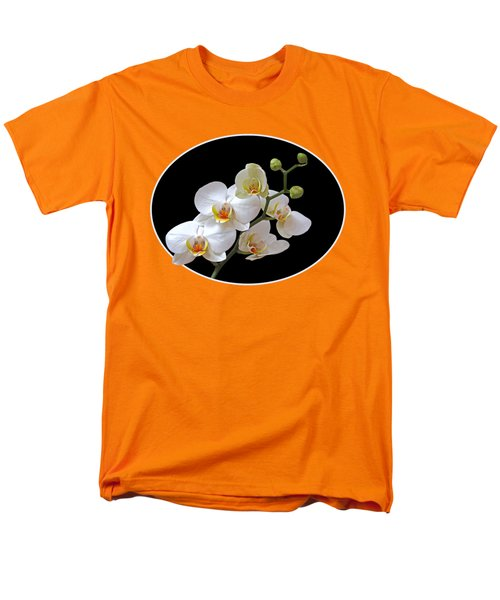 Orchids On Black And Orange Men's T-Shirt  (Regular Fit) by Gill Billington