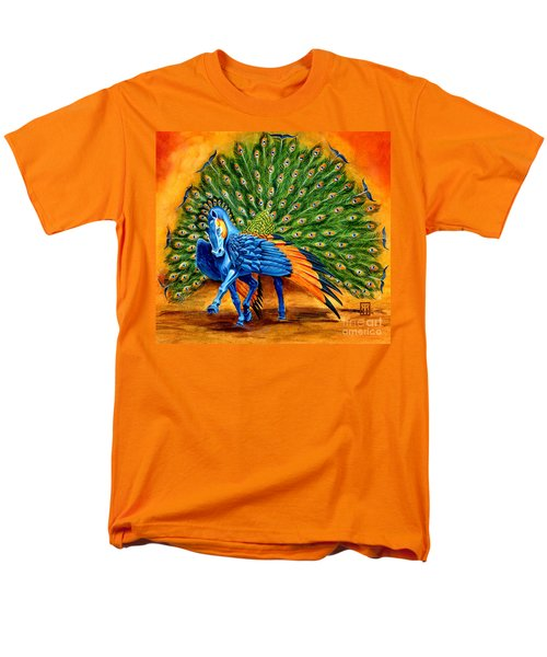 Peacock Pegasus Men's T-Shirt  (Regular Fit) by Melissa A Benson