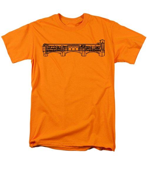 Ponte Vecchio Florence Tee Men's T-Shirt  (Regular Fit) by Edward Fielding