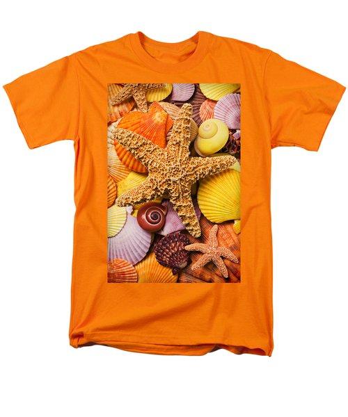 Starfish and seashells  T-Shirt by Garry Gay