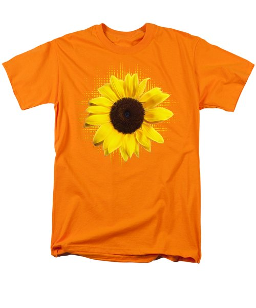 Sunflower Sunburst Men's T-Shirt  (Regular Fit) by Gill Billington