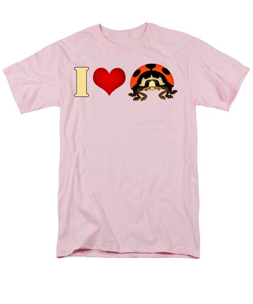 I Love Ladybugs Men's T-Shirt  (Regular Fit) by Sarah Greenwell