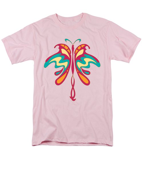 Colourful Art Nouveau Butterfly Men's T-Shirt  (Regular Fit) by Heidi De Leeuw