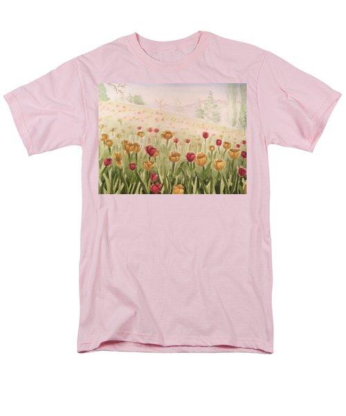 Field Of Tulips Men's T-Shirt  (Regular Fit) by Kayla Jimenez