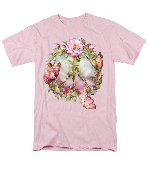 Peace Rose Men's T-Shirt  (Regular Fit) by Carol Cavalaris