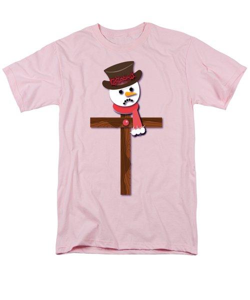 Snowman Christian Cross Men's T-Shirt  (Regular Fit) by Reggie Hart