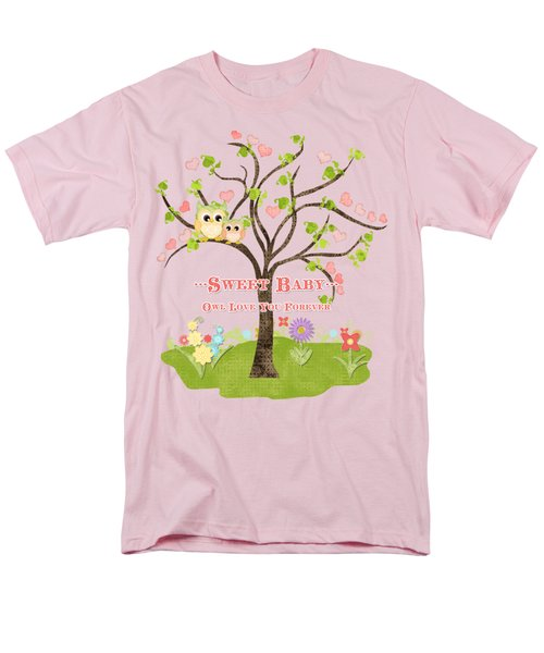 Sweet Baby - Owl Love You Forever Nursery Men's T-Shirt  (Regular Fit) by Audrey Jeanne Roberts
