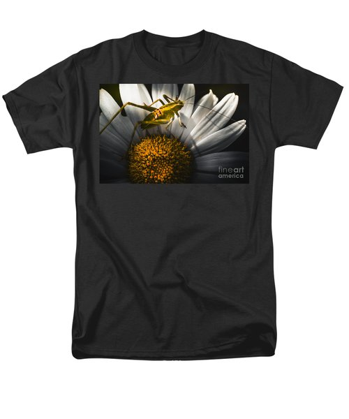 Australian Grasshopper On Flowers. Spring Concept Men's T-Shirt  (Regular Fit) by Jorgo Photography - Wall Art Gallery