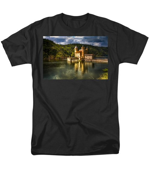 Chateau De La Roche Men's T-Shirt  (Regular Fit) by Debra and Dave Vanderlaan