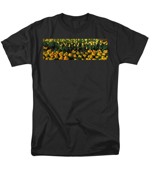 Flowers In Hyde Park, City Men's T-Shirt  (Regular Fit) by Panoramic Images