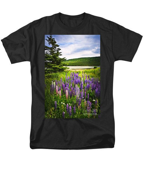 Lupin flowers in Newfoundland T-Shirt by Elena Elisseeva
