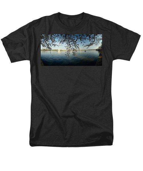 Monument At The Waterfront, Jefferson Men's T-Shirt  (Regular Fit) by Panoramic Images