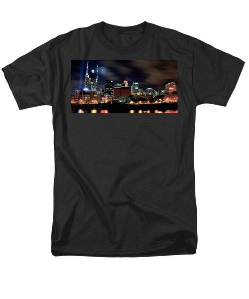 Nashville Panoramic View Men's T-Shirt  (Regular Fit) by Frozen in Time Fine Art Photography