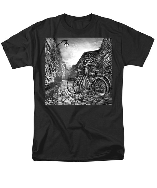 Old Bicycles on a Sunday Morning T-Shirt by Debra and Dave Vanderlaan
