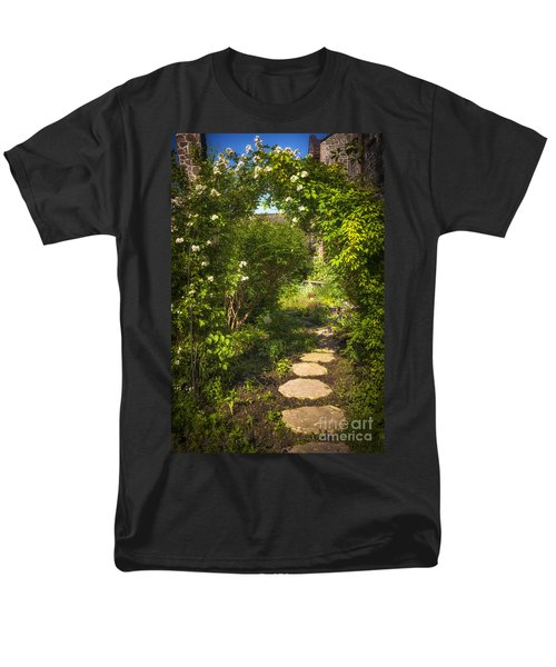 Summer garden and path T-Shirt by Elena Elisseeva