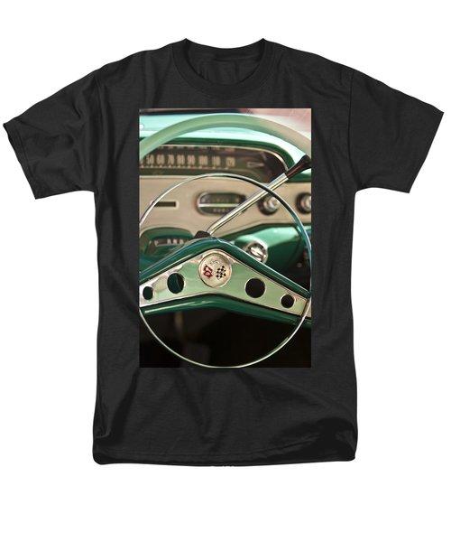 1958 Chevrolet Impala Steering Wheel T-Shirt by Jill Reger