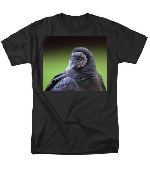 Black Vulture Portrait Men's T-Shirt  (Regular Fit) by Bruce J Robinson