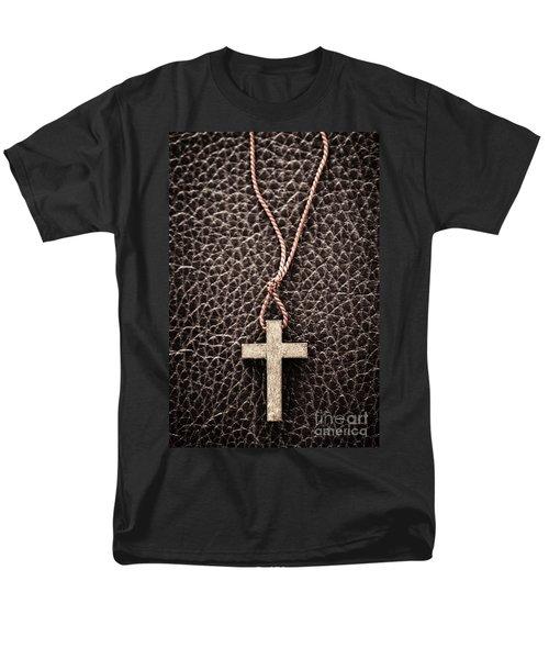 Christian Cross on Bible T-Shirt by Elena Elisseeva